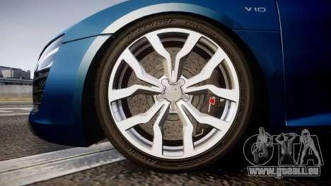 Audi R8 Spyder 2014 [EPM] pour GTA 4 Vue arrière