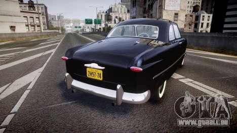Ford Custom Club 1949 v2.1 pour GTA 4 Vue arrière de la gauche