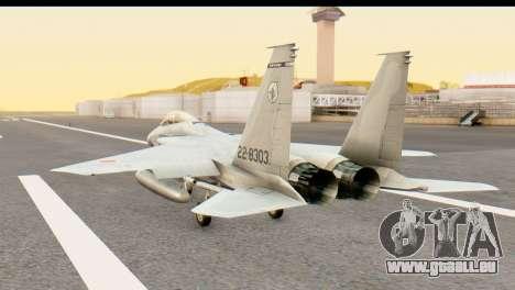 F-15DJ Mitsubishi Heavy Industries pour GTA San Andreas laissé vue