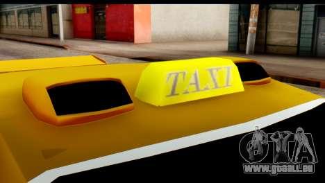 Peugeot 407 Sport Taxi pour GTA San Andreas vue intérieure