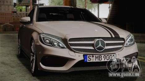 Mercedes-Benz C250 AMG Edition 2014 EU Plate für GTA San Andreas Rückansicht