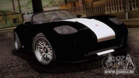 GTA 5 Invetero Coquette v2 IVF für GTA San Andreas Rückansicht