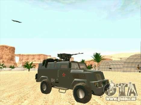 Blindés De L'Ours pour GTA San Andreas vue arrière