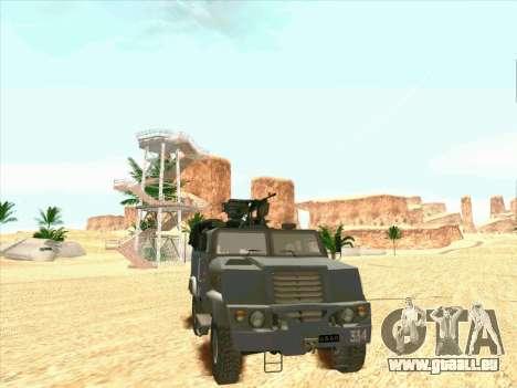 Blindés De L'Ours pour GTA San Andreas sur la vue arrière gauche