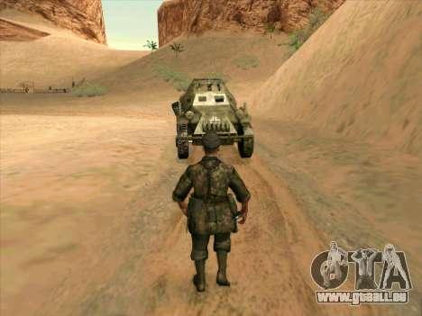 SdKfz.222 pour GTA San Andreas vue arrière