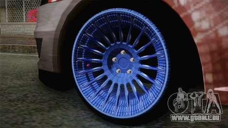 Dacia Logan Most Wanted Edition v2 pour GTA San Andreas sur la vue arrière gauche