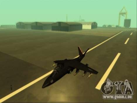 McDonnell Douglas AV-8B Harrier II Beta für GTA San Andreas zurück linke Ansicht