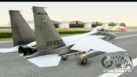 F-15J Mitsubishi Heavy Industries pour GTA San Andreas laissé vue