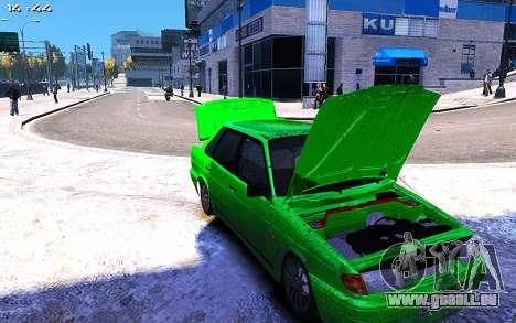 Lada 2115 pour GTA 4 Vue arrière