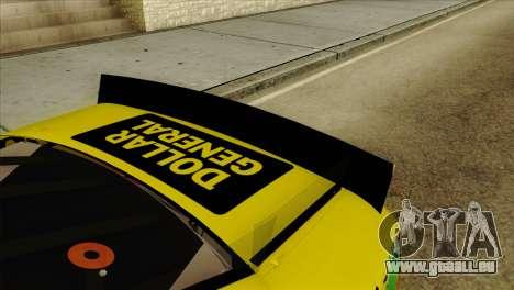 NASCAR Toyota Camry 2013 pour GTA San Andreas vue arrière