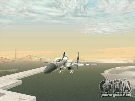 Su 27 für GTA San Andreas rechten Ansicht