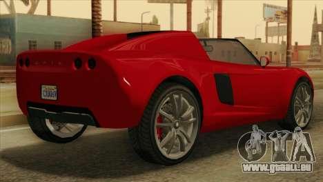 GTA 5 Coil Voltic v2 pour GTA San Andreas laissé vue