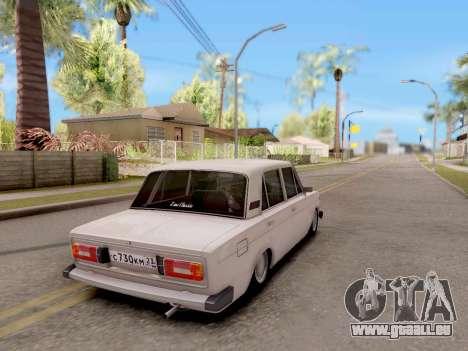 VAZ 2106 Classique pour GTA San Andreas laissé vue