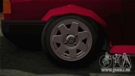 Volkswagen Senda pour GTA San Andreas sur la vue arrière gauche