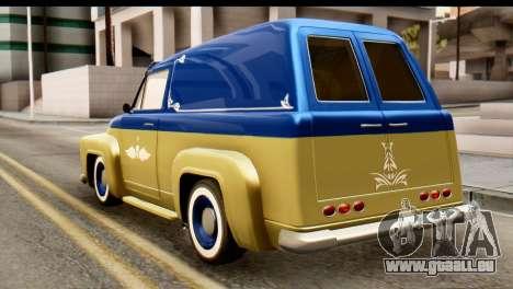 EFLC TLaD Vapid Slamvan IVF pour GTA San Andreas laissé vue