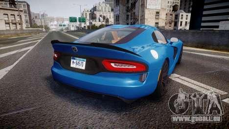 Dodge Viper SRT 2013 rims2 pour GTA 4 Vue arrière de la gauche