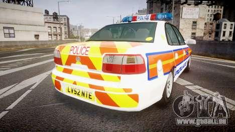 Vauxhall Omega Metropolitan Police [ELS] für GTA 4 hinten links Ansicht