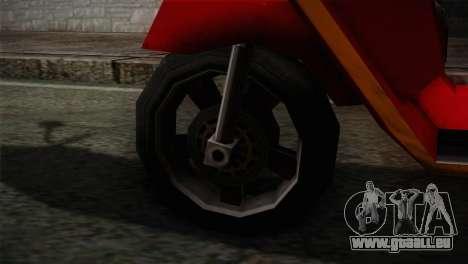 Original Pizzaboy IVF pour GTA San Andreas sur la vue arrière gauche