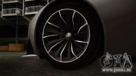 Peugeot Onyx pour GTA San Andreas sur la vue arrière gauche