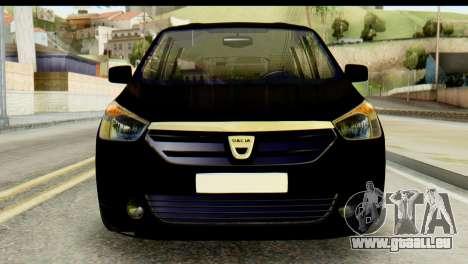 Dacia Lodgy pour GTA San Andreas vue arrière