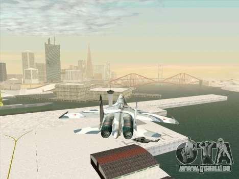 Su 27 für GTA San Andreas zurück linke Ansicht