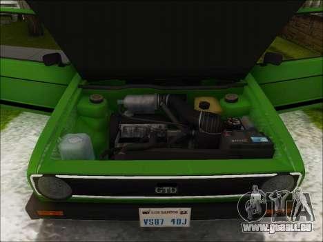 Volkswagen Golf GTD Mk1 für GTA San Andreas Innenansicht