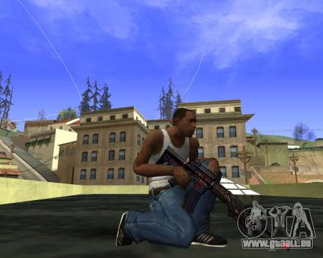M4A1 Cross Fire für GTA San Andreas