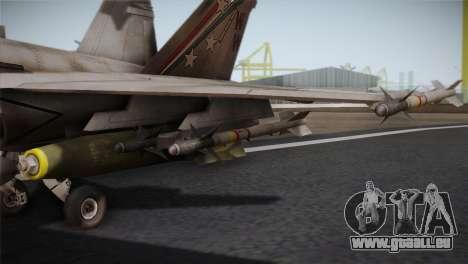 F-18 Hornet (Battlefield 2) pour GTA San Andreas vue arrière