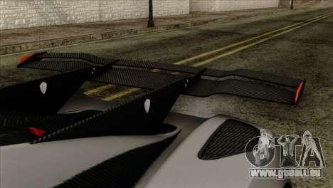Koenigsegg One 1 für GTA San Andreas rechten Ansicht