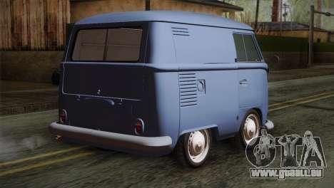 Volkswagen T1 Short pour GTA San Andreas laissé vue
