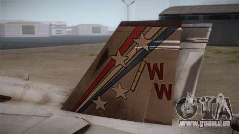 F-18 Hornet (Battlefield 2) pour GTA San Andreas sur la vue arrière gauche