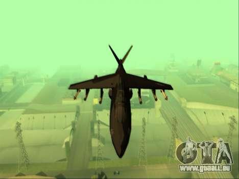 McDonnell Douglas AV-8B Harrier II Beta für GTA San Andreas Innenansicht