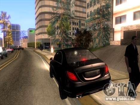Mercedes-Benz Long S65 W222  Black loaf für GTA San Andreas Innenansicht