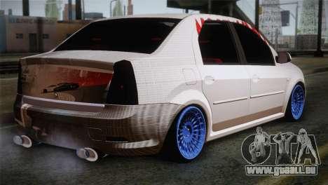 Dacia Logan Most Wanted Edition v3 pour GTA San Andreas laissé vue