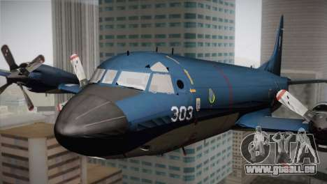Lockheed P-3 Orion MLD Old pour GTA San Andreas vue arrière