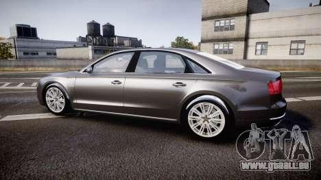 Audi A8 L 4.2 FSI quattro pour GTA 4 est une gauche