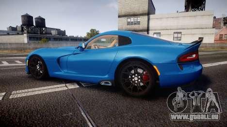Dodge Viper SRT 2013 rims2 für GTA 4 linke Ansicht