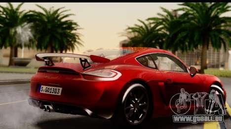Porsche Cayman GT4 981c 2016 EU Plate für GTA San Andreas linke Ansicht