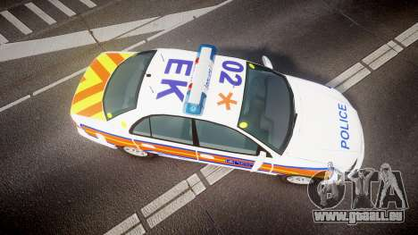 Vauxhall Omega Metropolitan Police [ELS] für GTA 4 rechte Ansicht