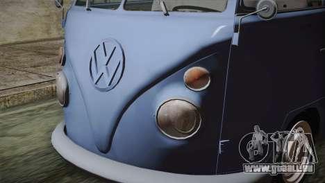 Volkswagen T1 Short pour GTA San Andreas vue arrière