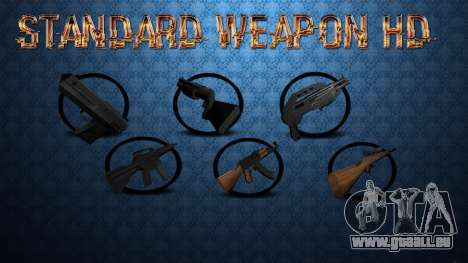 Standard HD Weapon Pack für GTA San Andreas