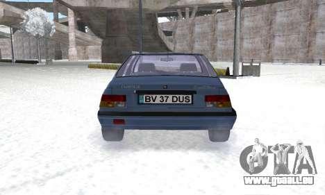 Dacia Super Nova für GTA San Andreas Rückansicht