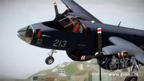 Lockheed P2V-7 Neptune MLD pour GTA San Andreas vue de droite