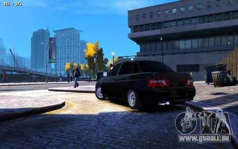 Lada 2110 pour GTA 4 Vue arrière