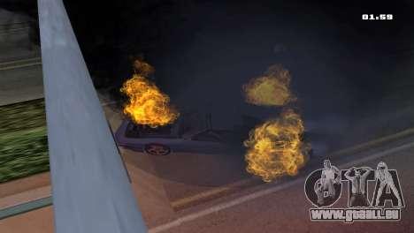 Burning Car pour GTA San Andreas troisième écran