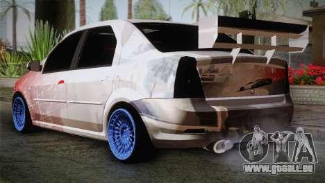 Dacia Logan Most Wanted Edition v2 pour GTA San Andreas laissé vue