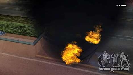 Burning Car für GTA San Andreas her Screenshot