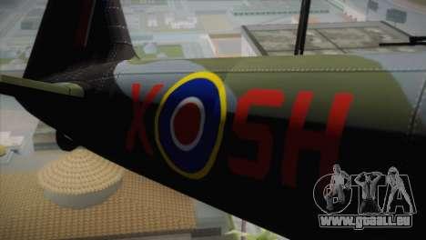 ИЛ-10 Royal Air Force für GTA San Andreas Rückansicht