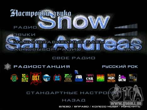 Radio ROCK russe pour GTA San Andreas deuxième écran