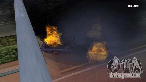 Burning Car pour GTA San Andreas deuxième écran